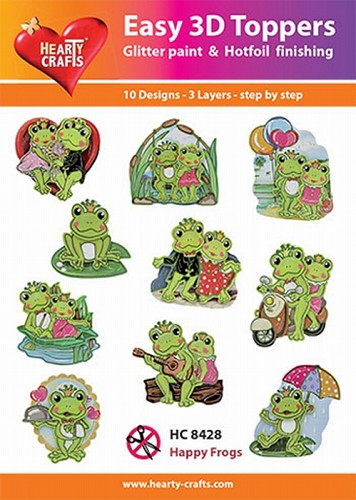 Hearty Crafts - Easy 3D Toppers - Happy Frogs
