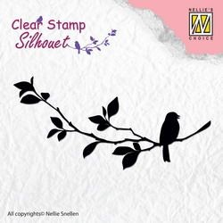 Nellie Snellen - Silhouette Clear Stamp - Birdsong 1