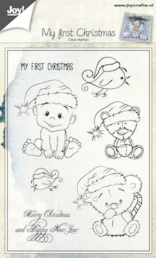 Joy!Crafts - Clear stamp - stempel kerst beertjes-kindjes