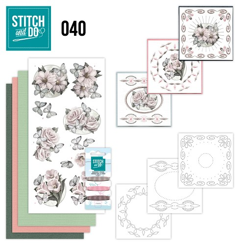 Card Deco - Stitch and Do - Borduurset 40 - Condoleance