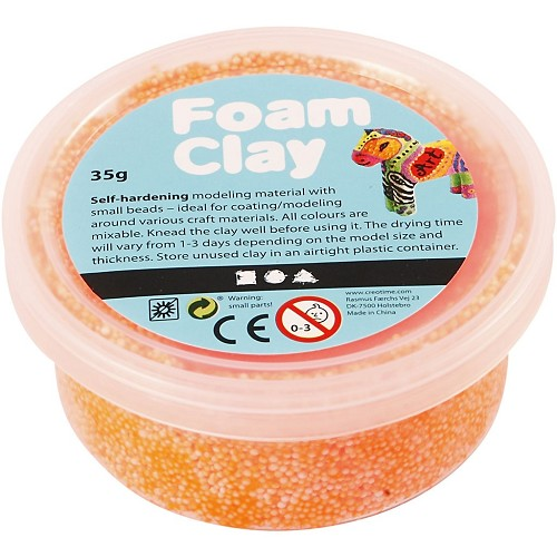 Foam Clay -  Neon Orange 35 Gr