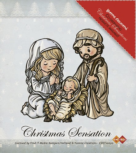 Stamps - Yvonne Creations - Christmas Sensation - Jesus Maria and Josef