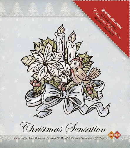 Yvonne Creations - Clearstamp - Christmas Sensation - Flower and Candles