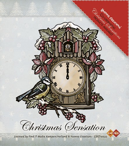 Stamps - Yvonne Creations - Christmas Sensation - Clock