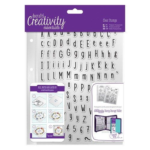 DoCrafts - Clear stamp Set (128pcs) - Alphas Folk