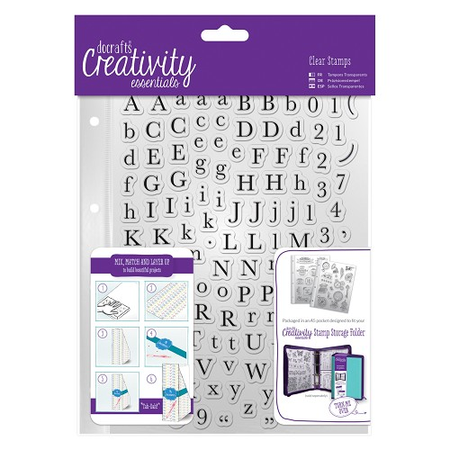 DoCrafts - Clear stamp Set (129pcs) - Alphas Trad