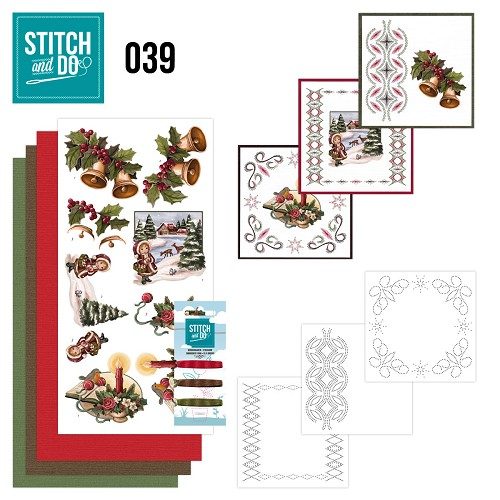 Card Deco - Stitch and Do - Borduurset 39 - Christmas Greetings