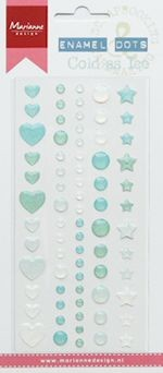Marianne Design - Enamel dots - Cold as ice