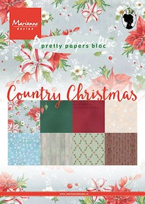Marianne Design - Pretty Papers Bloc -Country Christmas