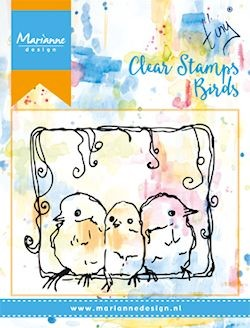 Marianne Design - Clearstamp - 3 birds