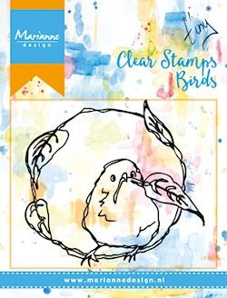 Marianne Design - Clearstamp - Birds & Leaves