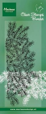Marianne Design - Clearstamp - Tiny`s border pine tree branches