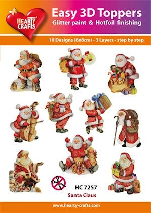 Hearty Crafts - Easy 3D Toppers - Santa Claus