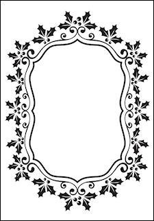 Nellie Snellen -  Embossing folder - Christmas oval holly frame
