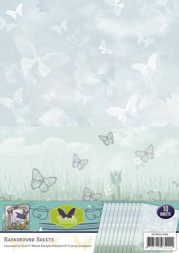 Yvonne Creations - Backgroundsheets - Butterfly Collection