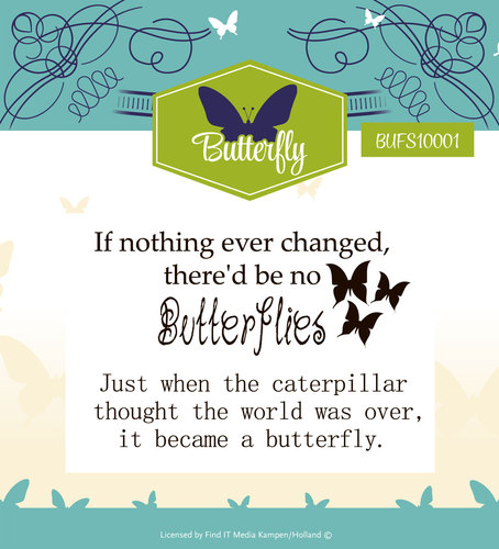Yvonne Creations - Clearstamp - Butterfly
