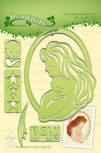 Leane Creatief -  Mother & Child - snij en embossing mal