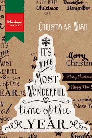 Marianne Design - Clearstamp - Most wonderful time of the year