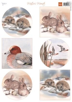 Marianne Design - Knipvel - Mattie`s winter animals - hedgeh..