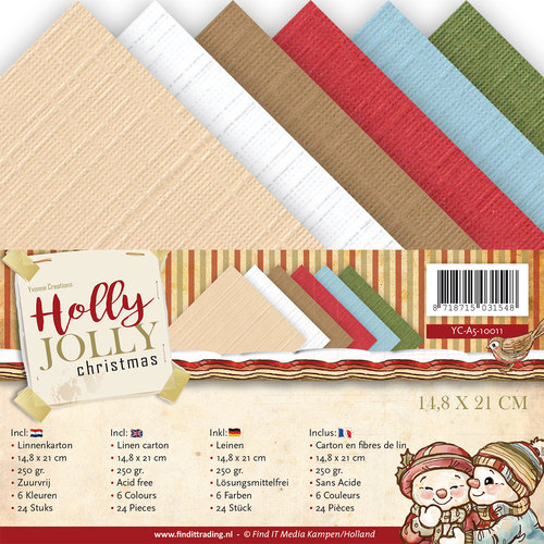Yvonne Creations - Linnenpakket - A5 - Holly Jolly