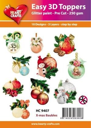 Hearty Crafts - Easy 3D Toppers - x-mas baubles