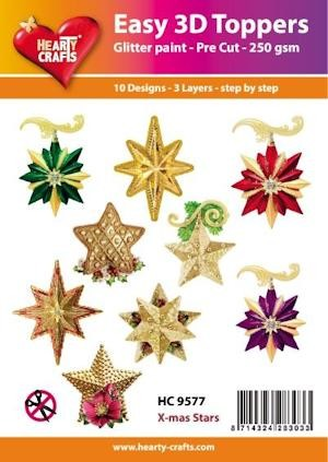 Hearty Crafts - Easy 3D Toppers - x-mas Stars