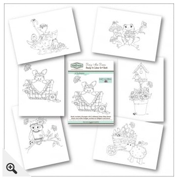 The Hobby House - Daisy Mae Draws Ready to Colour Art Book - In The Meadow