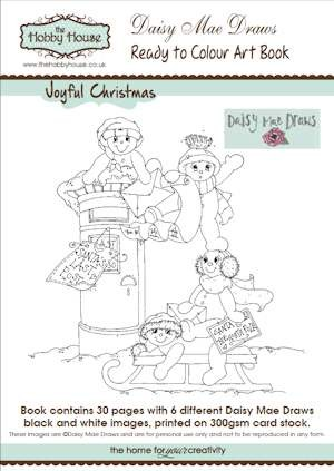The Hobby House - Daisy Mae Art Book nr 4 - Joyful Christmas
