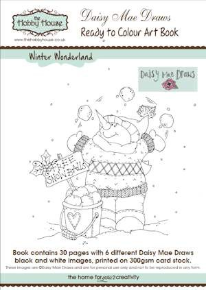The Hobby House - Daisy Mae Art Book nr 3 - Winter Wonderland