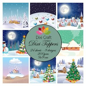 Dixi Craft - Toppers - Christmas Villages