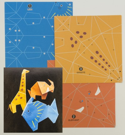 Origami Papers - Fold By Number-Wild Animals - 4311