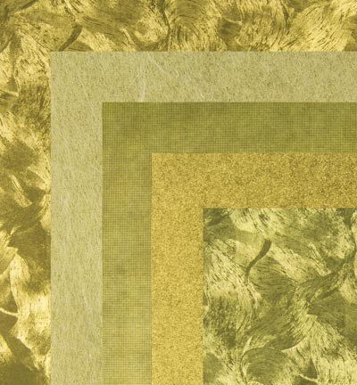 Origami Papers - Gold Metallics textures- 4407