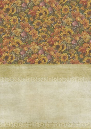 Amy Design - Backgroundsheets - Autumn Moments - Sunflowers
