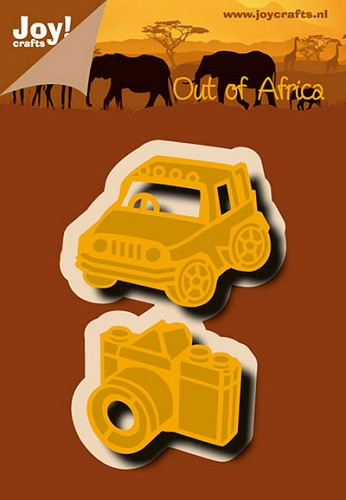 Joy!Crafts - Cutting & Embossing - stencil jeep & camera