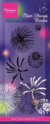Marianne Design - Clearstamp - Tiny`s fireworks