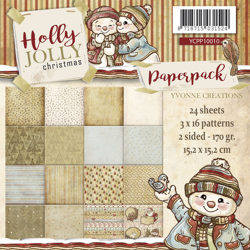 Yvonne Creations - Paperpack - Holly Jolly