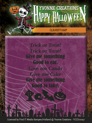 Yvonne Creations - Clearstamp - Happy Halloween