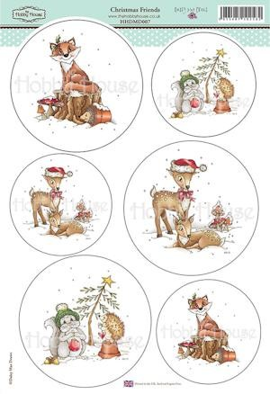 The Hobby House - Daisy Mae Draws toppers - Stansvel - Christmas Friends