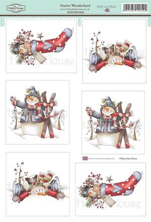 The Hobby House - Daisy Mae Draws toppers - Stansvel - Festive Wonderland