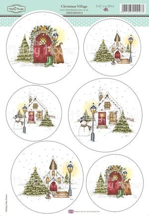The Hobby House - Daisy Mae Draws toppers - Stansvel - Christmas Village