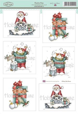 The Hobby House - Daisy Mae Draws toppers - Stansvel - Festive Fun