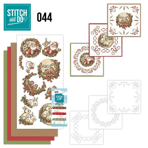Card Deco - Stitch and Do - Borduurset 44 - Holly Jolly mix
