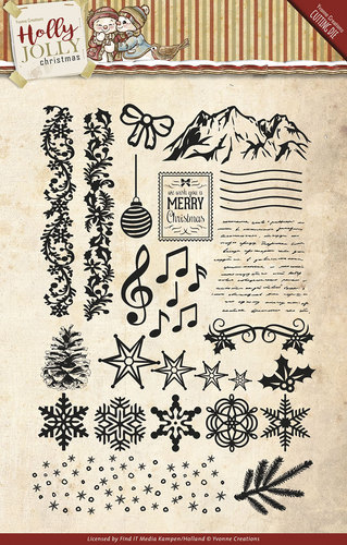 Yvonne Creations - Clearstamp - Holly Jolly