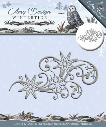 Amy Design - Die - Wintertide - Ice Crystal Swirl