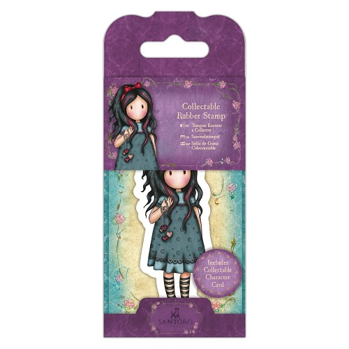 DoCrafts - Mini Rubber Stamp Gorjuss - Santoro - No. 22 Pulling On Your Heart Stri