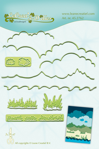 Leane Creatief - Snij en embossing mal - Background dies landscape