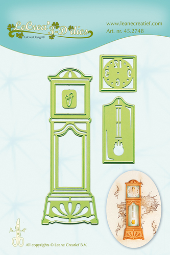 Leane Creatief - Snij en embossing mal - Grandfather Clock