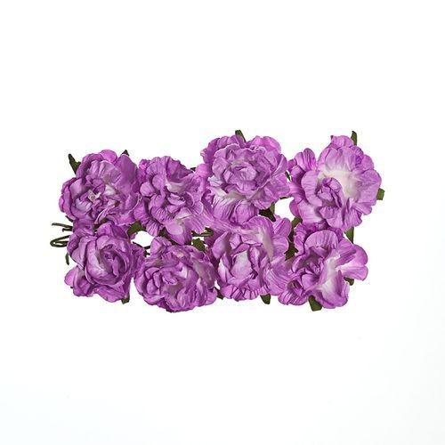 ScrapBerry`s - Paper Flowers - Curly Rose - Lilac