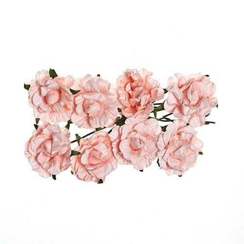 ScrapBerry`s - Paper Flowers - Curly Rose - Light Pink