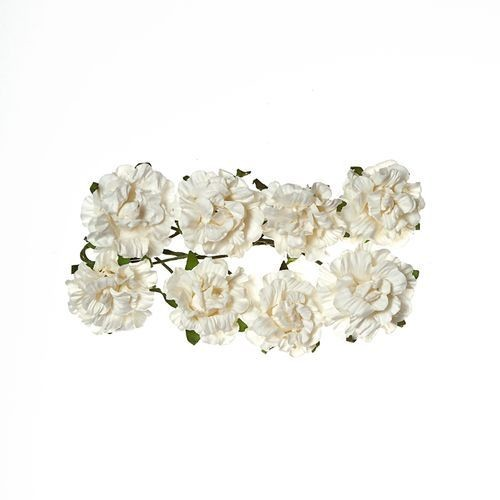 ScrapBerry`s - Paper Flowers - Curly Rose - White